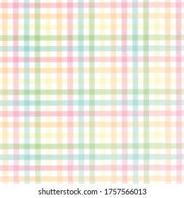 Colorful Pastel watercolor checkered pattern. Watercolor pattern pastel with stripes. Watercolor brush stripes pattern.