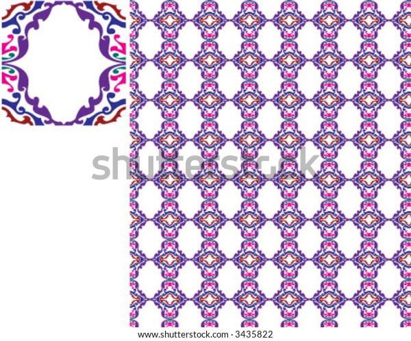 Colorful pattern like mosaic