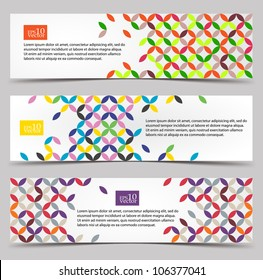 Colorful pattern web banners