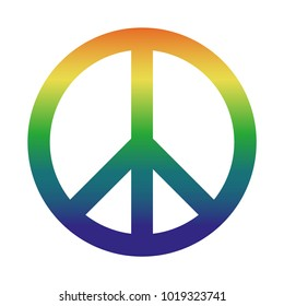 Colorful Peace Sign For Websites And Apps