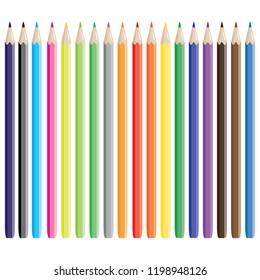Colorful pencil illustraton