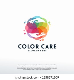 Colorful People Care logo vector, Health Care logo designs template, design concept, logo, logotype element for template