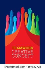 Colorful peoples design for teamwork concept illustration