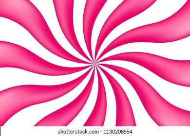 Colorful Pink And White Candy Pattern Background. Vector