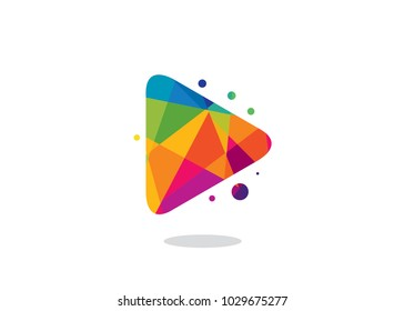 Colorful Play Logo Design Template, Element Design, Vector Design