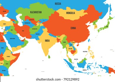Asia On A Map Of The World.South East Asia Map Images Stock Photos Vectors Shutterstock