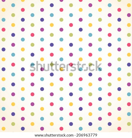 colorful polka dot template vector design stock vector royalty free
