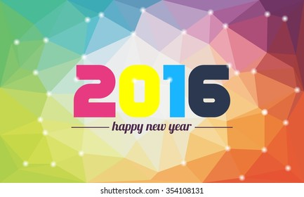 Colorful Polygon Happy New Year