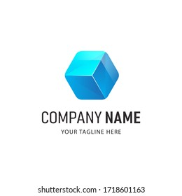 Colorful Polygon Logo Design vector Illustration