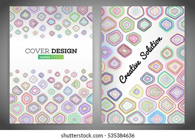 Colorful polygonal voronoi geometric prospectus design background. Abstract geometric cover flyer magazine.Polygonal brochure book cover template layout. Vector illustration eps 10