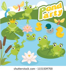Colorful Pond party