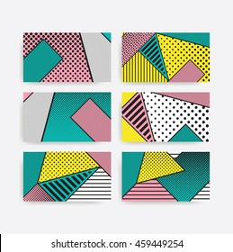 Colorful Pop art geometric pattern with bright bold blocks of squiggles. Material design background in black and white. Futuristic, prospectus, poster, magazine, broadsheet, leaflet, book, billboard