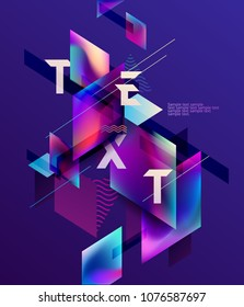 Colorful poster design
