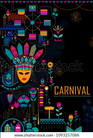 colorful poster fun filled carnival festival stock vector royalty
