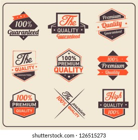 Colorful Premium Quality and Guarantee Label Collection