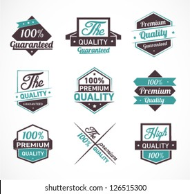 Colorful Premium Quality and Guarantee Label Set