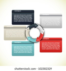 Colorful presentations with five text box