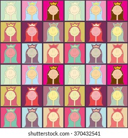 Colorful princess pattern