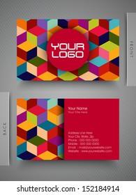 Colorful professional and designer business card set or visiting card set.