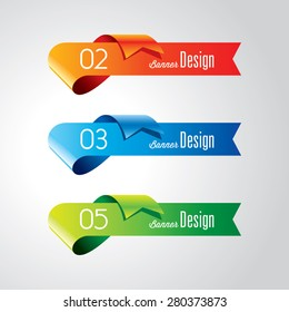 Colorful promotional banner design, vector illustration