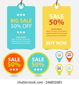 Colorful Promotions Vector