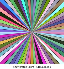 Colorful psychedelic abstract ray burst stripe background - vector explosion graphic