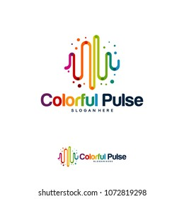 Colorful Pulse Logo minimalist vector, Colorful Pulse Icon