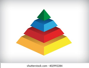 colorful pyramid on a white background