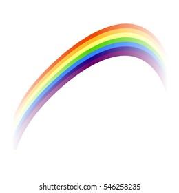 Colorful rainbow, design element