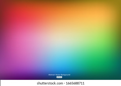 Colorful rainbow gradient abstract background, vector illustration