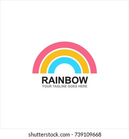 Colorful Rainbow Logo Vector Illustration