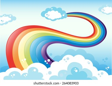Colorful rainbow in the sky