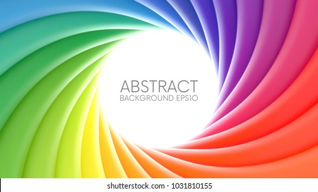 Colorful rainbow swirl vector background