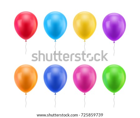 colorful realistic balloons colored balloons realistic stock vector