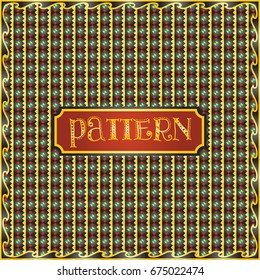 Colorful repeatable pattern