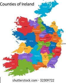 Map Of Ireland And Counties.Ireland Map Images Stock Photos Vectors Shutterstock