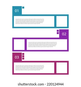 Colorful retro design template / numbered banners.