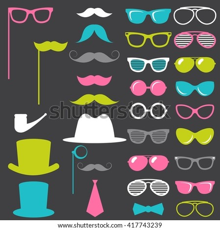 84f2e81f0f0997 Colorful Retro Gentleman Elements Set Stock Vector (Royalty Free ...