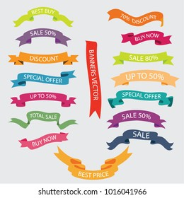 Colorful ribbon in flat design