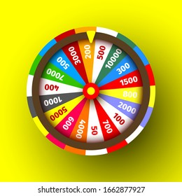 Colorful сasino roulette. Vector illustration.