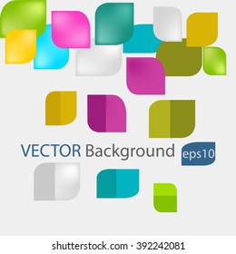Colorful round Square blank background - Vector Design Concept