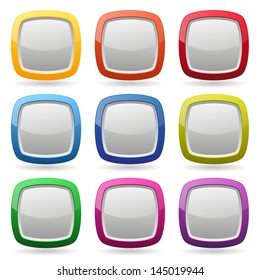 Colorful rounded button collection