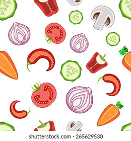 Colorful seamless fresh vegetable background