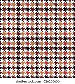 Colorful Seamless Houndstooth Pattern