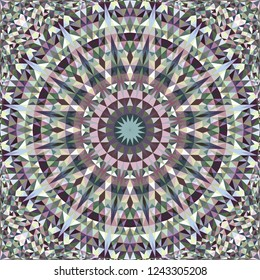 Colorful seamless kaleidoscope pattern background design - abstract symmetrical vector mandala wallpaper illustration with triangles