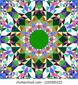 Colorful seamless kaleidoscope pattern background design - abstract tribal vector wallpaper illustration with triangles