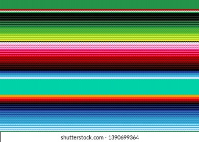 Colorful seamless mexican style pattern. Serape gesign. Background for Cinco de Mayo party or fiesta