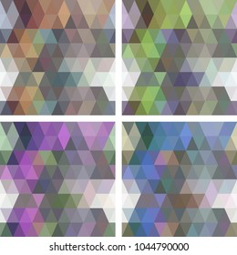 Colorful seamless mosaic geometric pattern with modern gradients. Vector illustration with minimalistic geometric patterns.