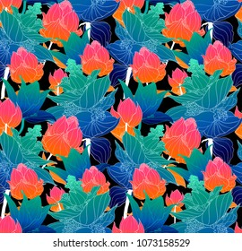 Colorful Seamless pattern,
