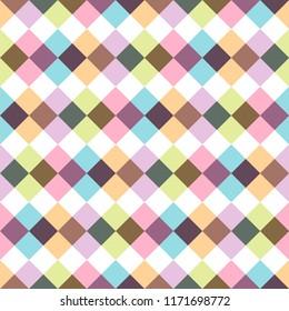 Colorful seamless stylish pattern - vintage design. Bright decorative background
